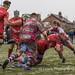 Bristols's Joseph Latta is stopped short by the Titan's defence-3142
