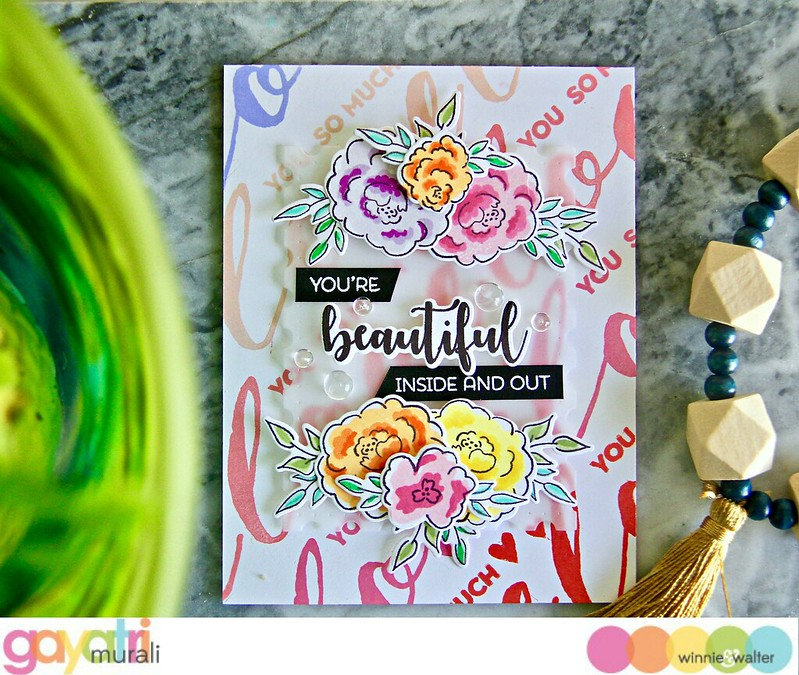 gayatri_You're Beautiful Inside and Out card flat
