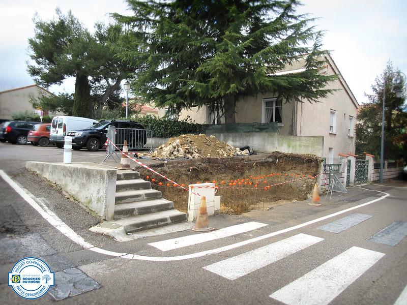 Construction d'un abri à conteneurs rue Édouard Amalbert