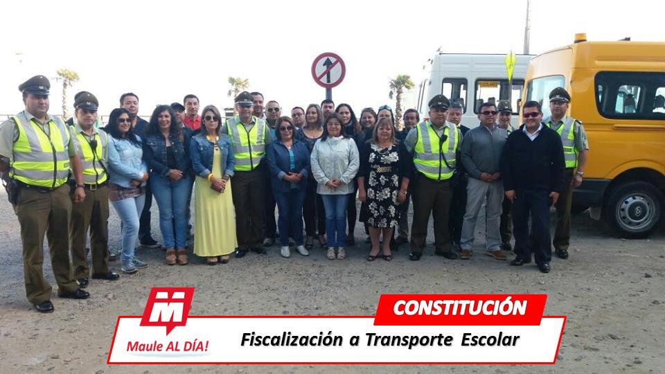 CONSTITUCIÓN & MOLINA; Carabineros realiza Fiscalización Voluntaria a Transporte Escolar