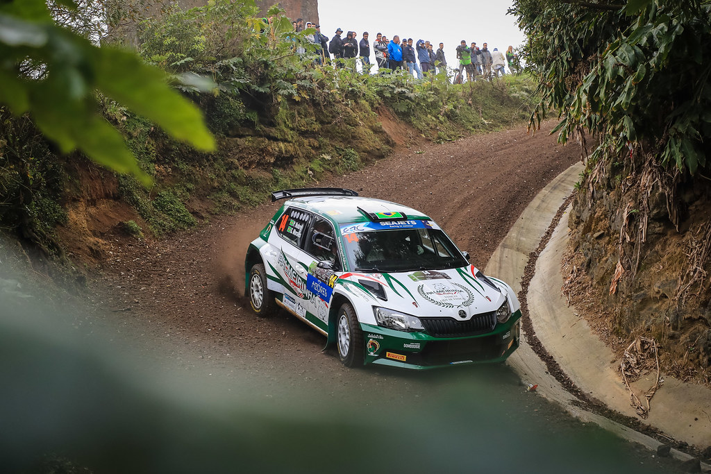14 NOBRE Paulo (bra), MORALES Gabriel (bra), PALMEIRINHA RALLY, SKODA FABIA R5, action during the 2018 European Rally Championship ERC Azores rally,  from March 22 to 24, at Ponta Delgada Portugal - Photo Jorge Cunha / DPPI