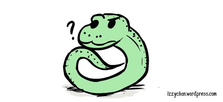 thinking snake thonking