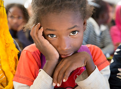 A young girl in class