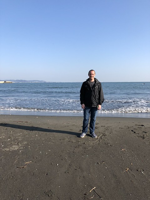 On the beach in Japan
