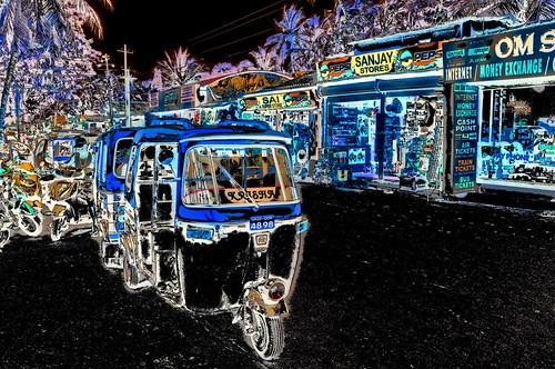 India - Goa - Palolem - Streetlife - Auto Rickshaws - 232dd