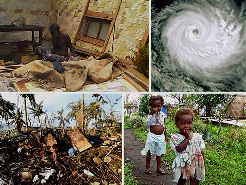 Cyclone Pam was a disaster of unprecedented proportions, destroying 90 percent of all homes on Tanna Island, and wiped out all food crops.