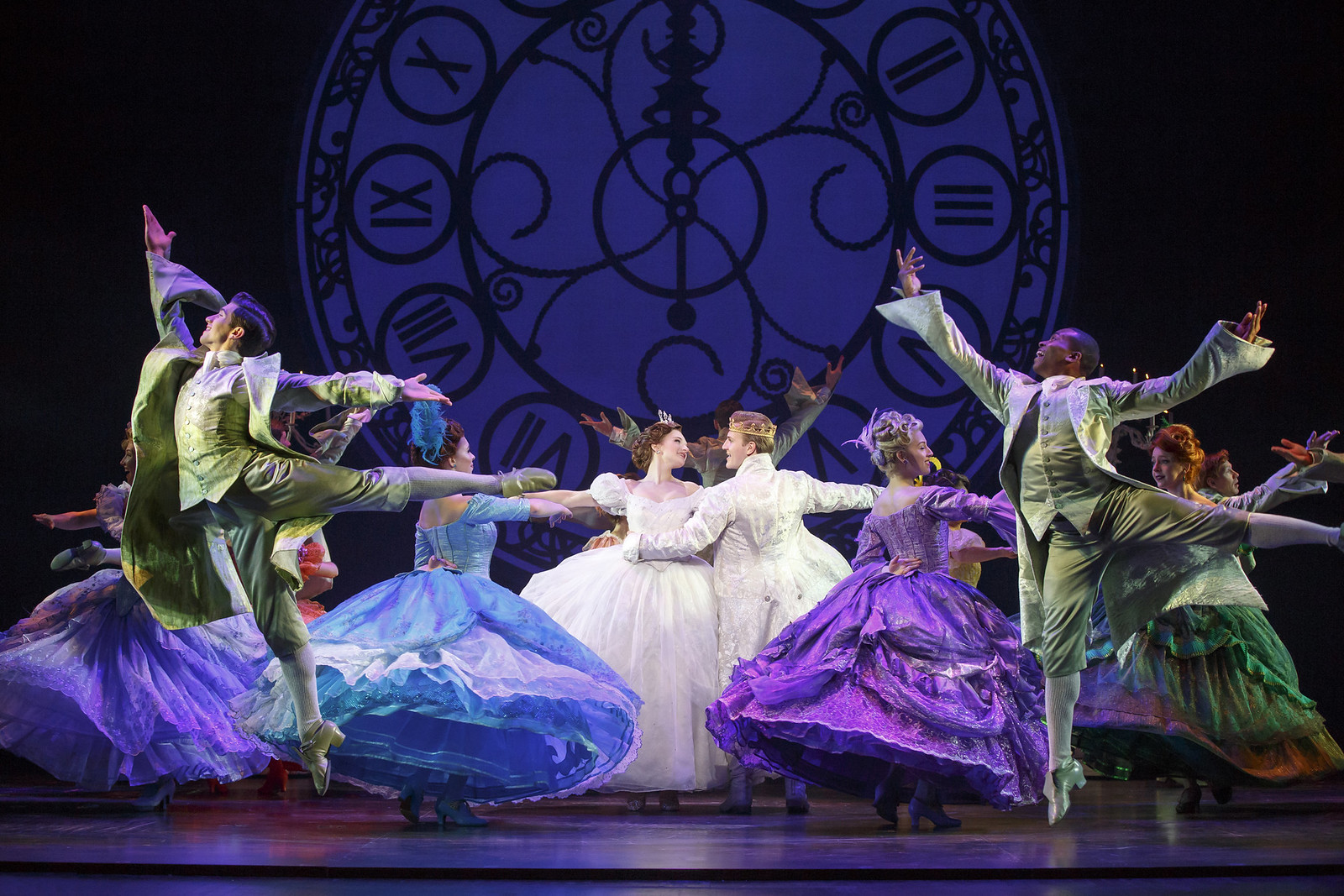 atyana Lubov and Louis Griffin (center) in Rodgers + Hammerstein's Cinderella. Photo: © Carol Rosegg // Broadway In Detroit: Rodgers + Hammerstein's Cinderella At The Fisher Theatre | via Wading in Big Shoes