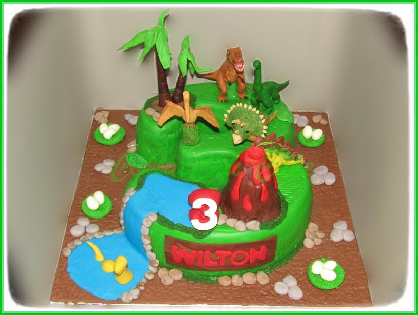 Cake angka 3 Dino WILTON 18 cm
