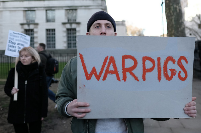 """""""War Pigs"""" - British politicians and business elite who support or profit from the Saudi bombing of Yemen."""