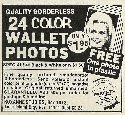 1978 Ad, Roxanne Studios Photo Offers