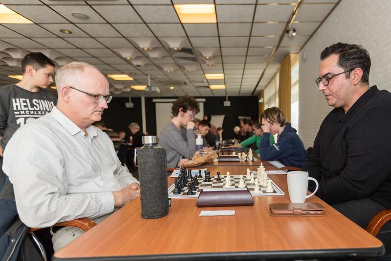 Jan Torensma (l) tegen Majid Hashemy