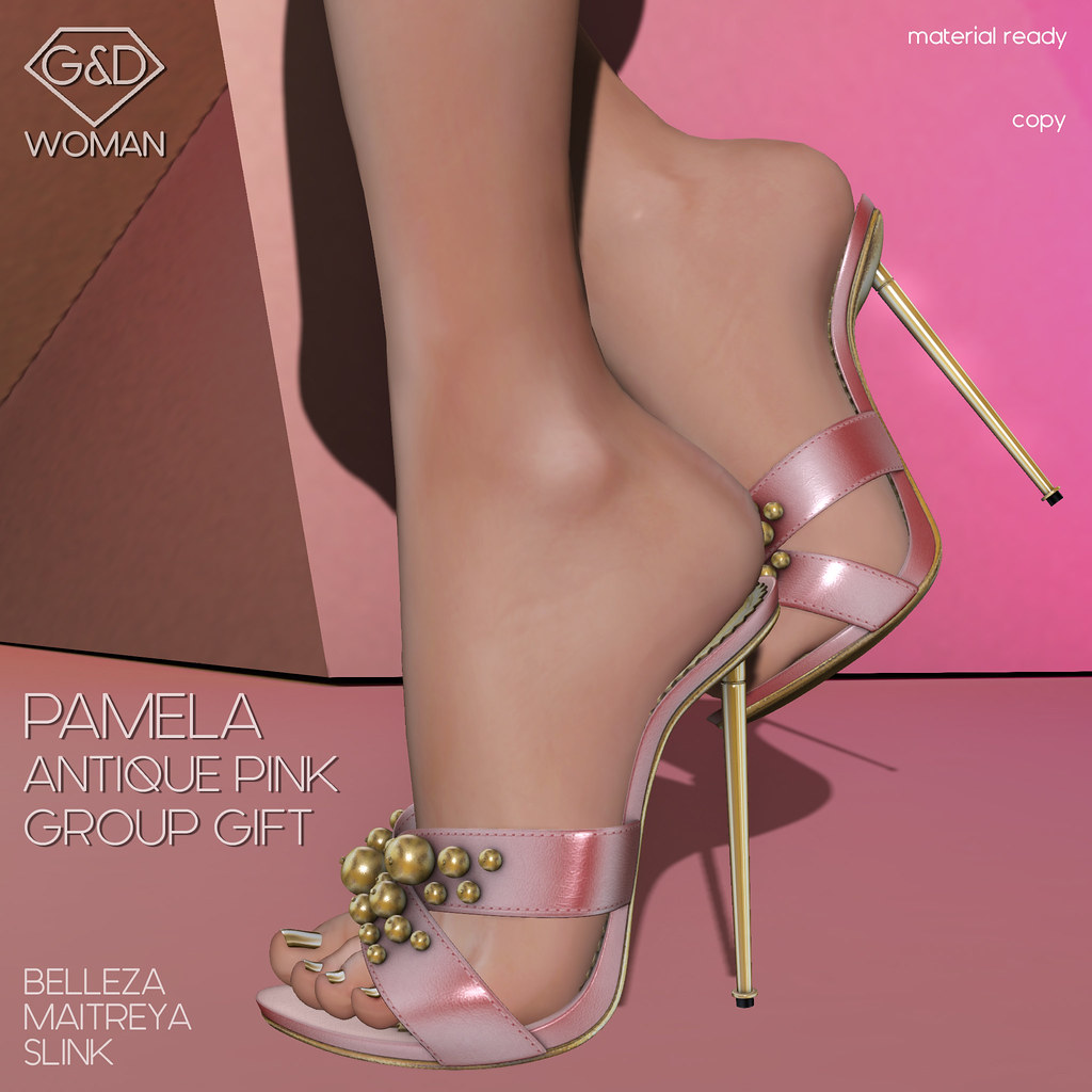 G&D Mule Pamela Antique Pink Group Gift