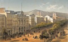 Deroy & Becquet - Vista de la Rambla y del Teatro del Liceo (1800)