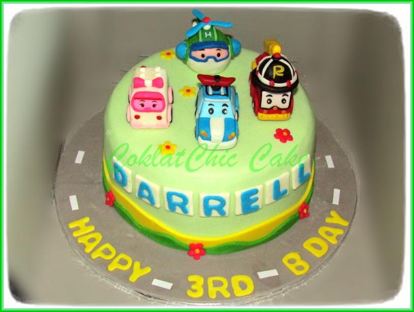 Cake Robocar Poli DARRELL 15 cm