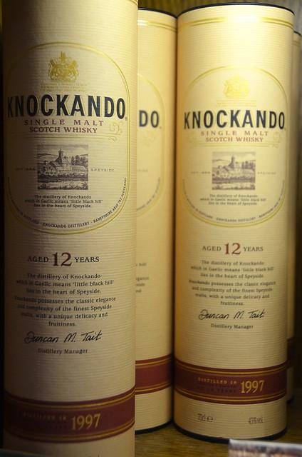Knockando single malt scotch whisky