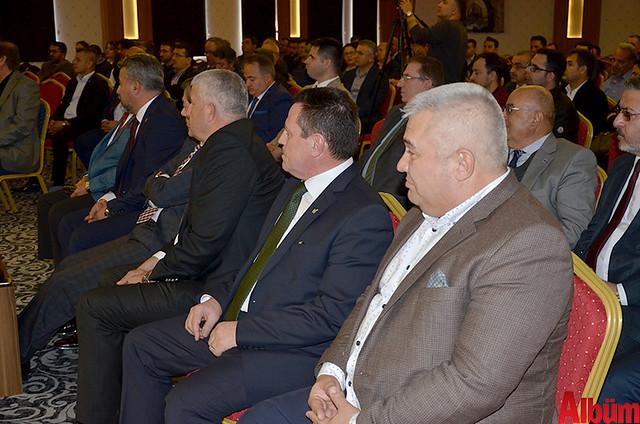 Alanya Serbest Muhasebeci Mali Müşavirler Odası (ALSMO) Derneği'nin konferans salonu düzenlenen kalabalık bir etkinlikle açıldı.-7
