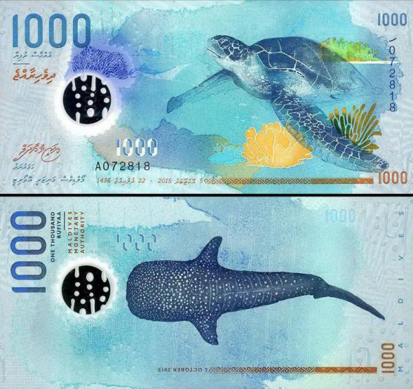 1000 Rufiyaa Maldivy 2015, P31