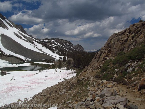 A rare stretch of clear trail above Barney Lake en route to Duck Pass, Inyo National Forest, California