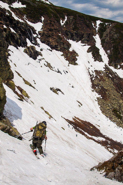 Dropping Into Left Gully