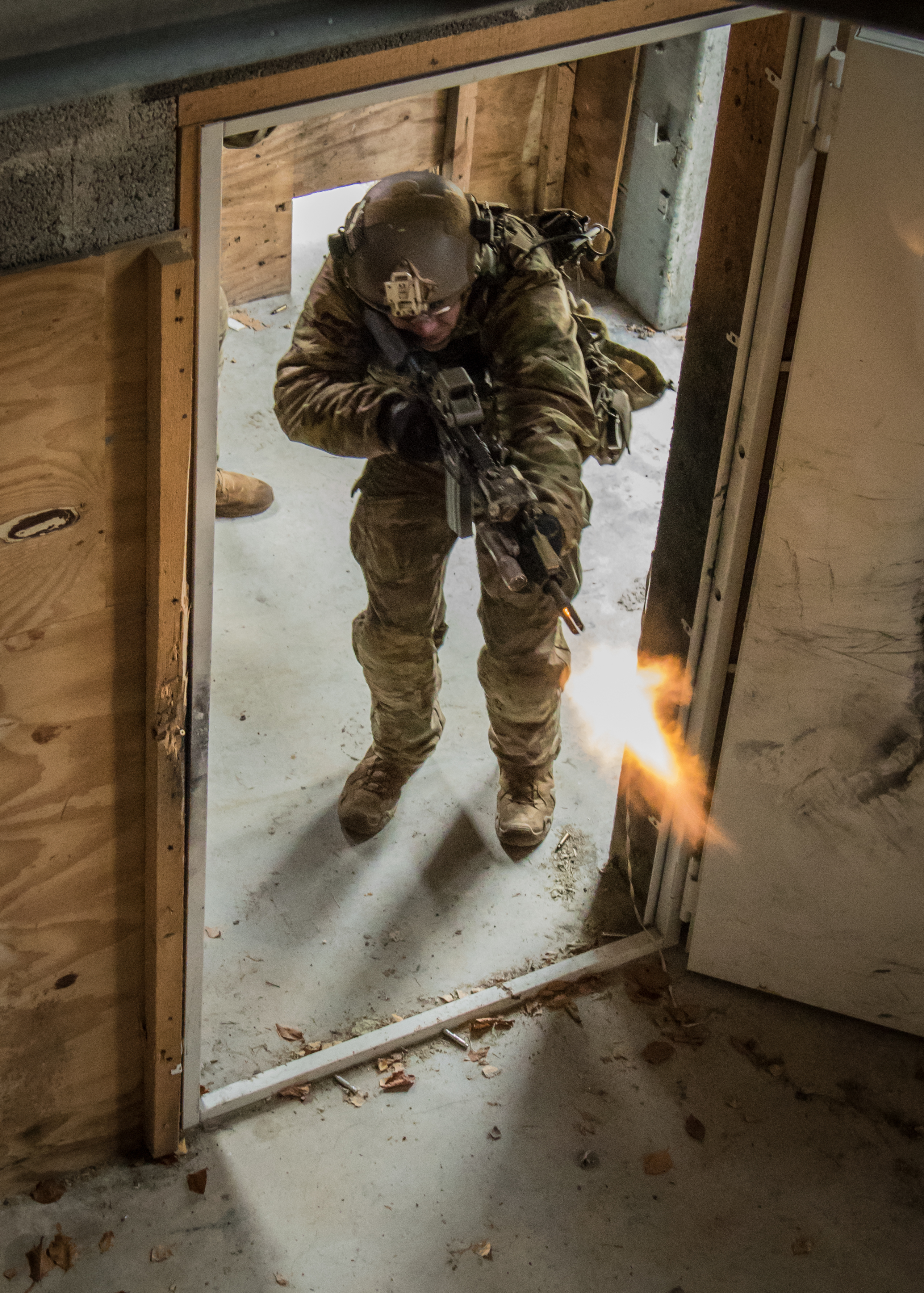 US Special Forces Soldiers conducts Close Quarters Battle training