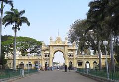 India (Mysore) Main entrance gate to the  Mysuru Palace Complex