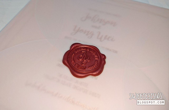 wedding invitation card envelope wax seal