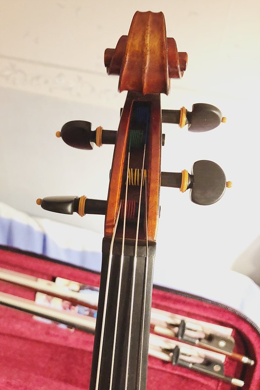 2018-03-12 - new strings to my viola