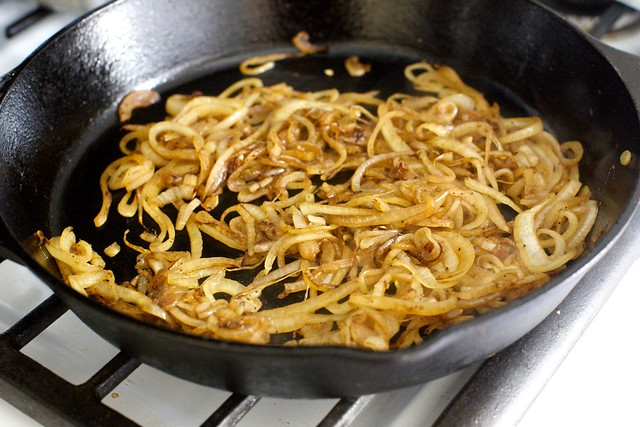 onions in the same pan