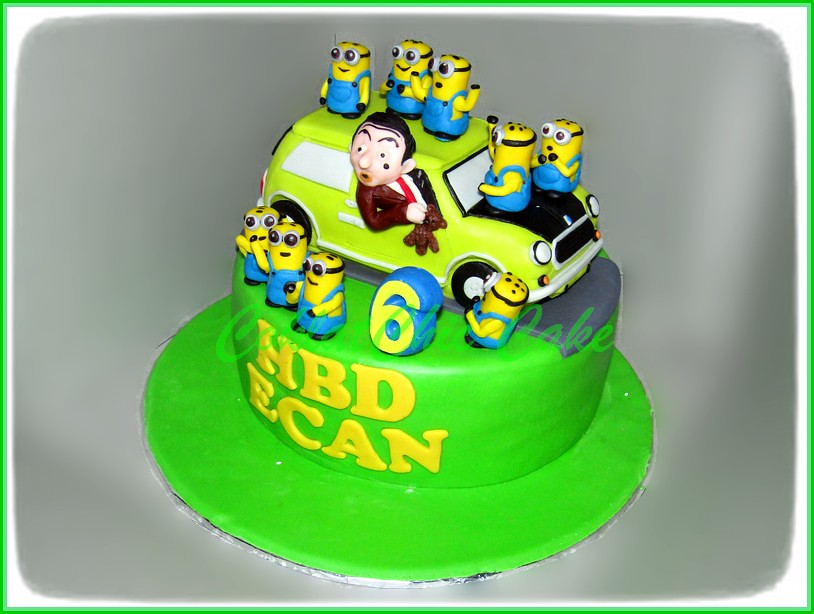 Cake Mr Bean & Minion ECAN 18 cm