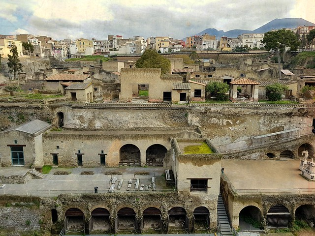 Herculaneum and the new town Ercolano
