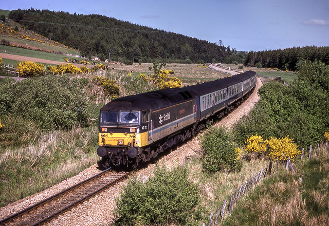 47712 'Lady Diana Spencer' 15.25 Aberdeen-Inverness, Glentauchers 25.05.1990