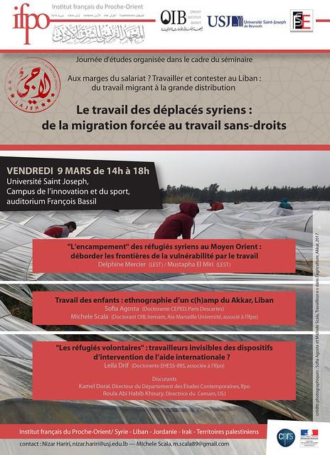 Le travail des déplacés syriens : de la migration forcée au travail sans-droits