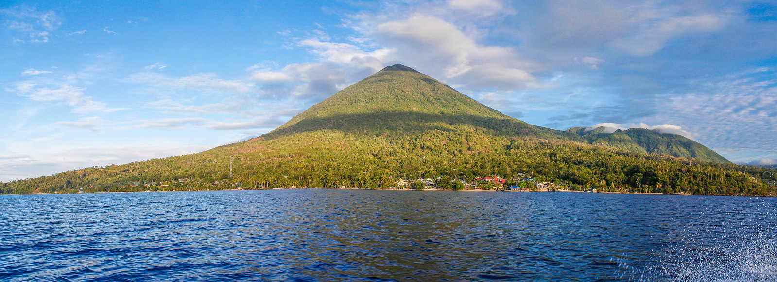 Tidore island from the sea