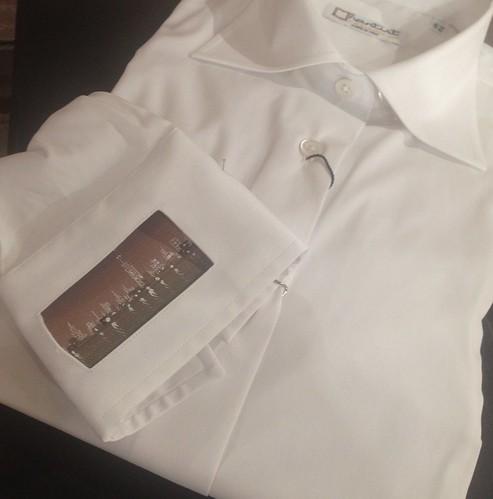 Camicia Nartist con polsino dipinto da Mimmo Milano