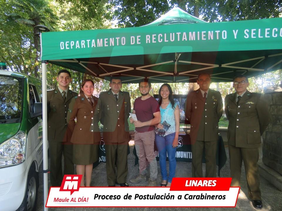 LINARES & COLBÚN; Carabineros invitan a postular a la Institución