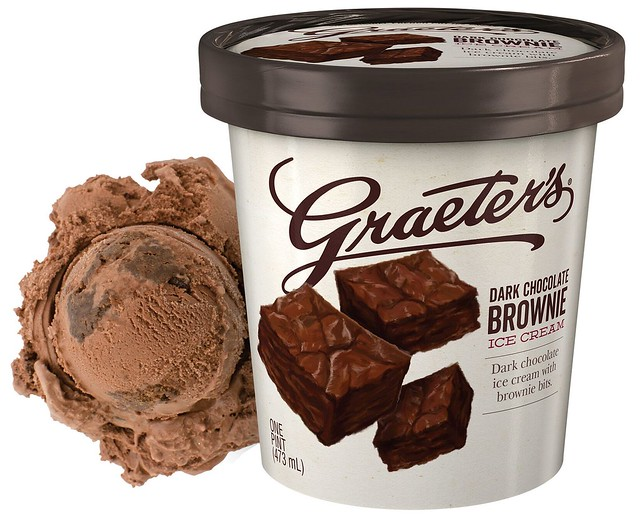 Graeter's Mystery  Flavor - Dark Chocolate Brownie
