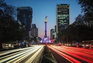Mexico light trails