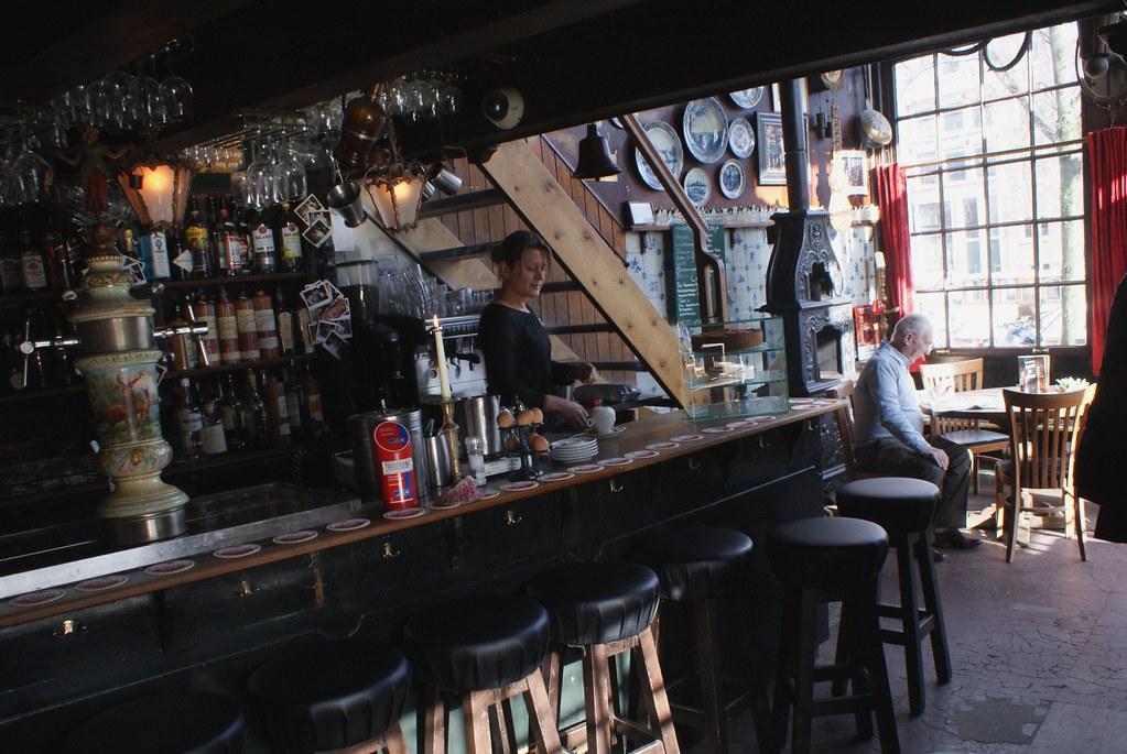 Café Papeinland dans le quartier de Jordaan à Amsterdam.