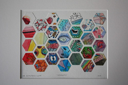 Auction Project: Watercolor Hexagons