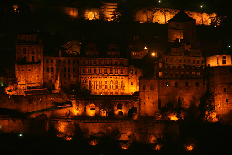 Heidelberg castle on fire
