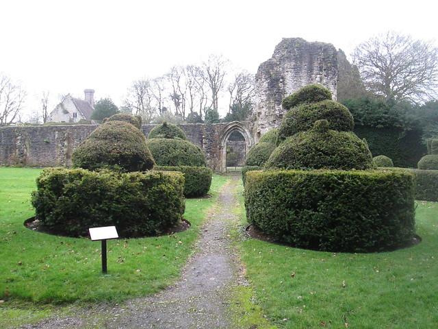 Wenlock Priory Buildings  + Topiary