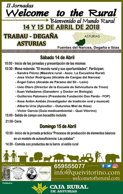 Programa de la Jornada Welcome to the Rural