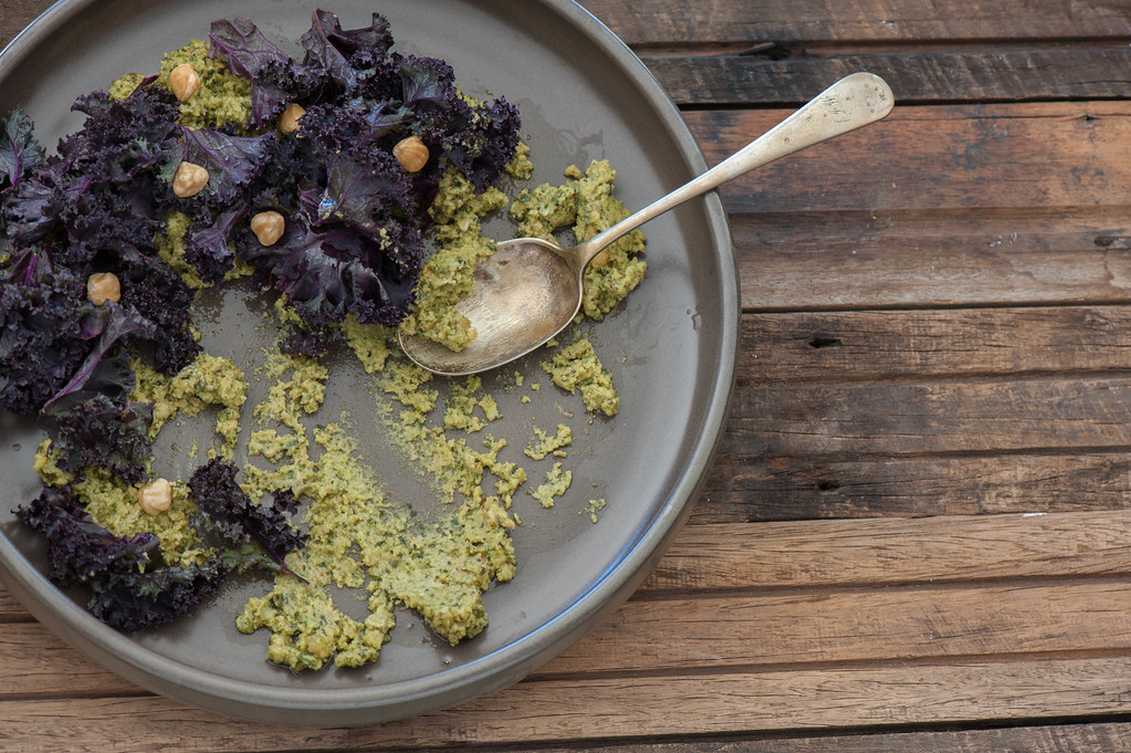 Salted Kale with Green Tahini-2