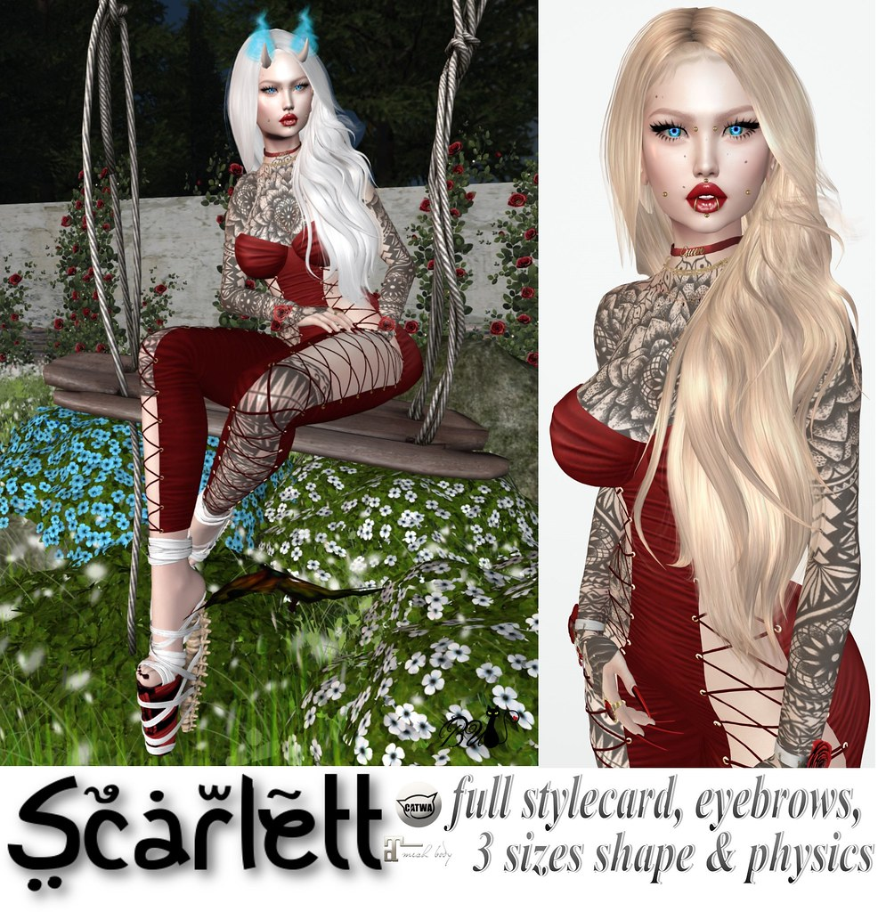 Scarlett Bento Shape ❤️ - TeleportHub.com Live!