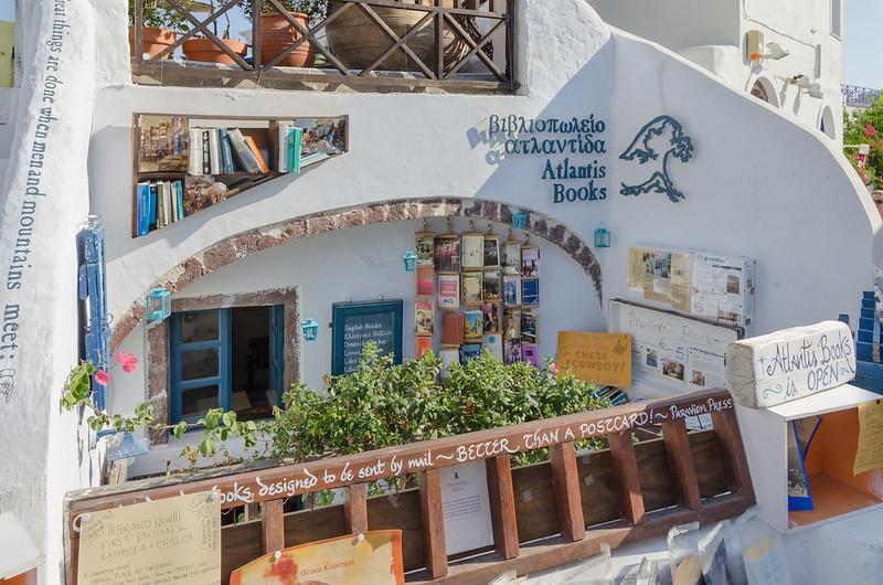 Libreria Atlantis en Satorini