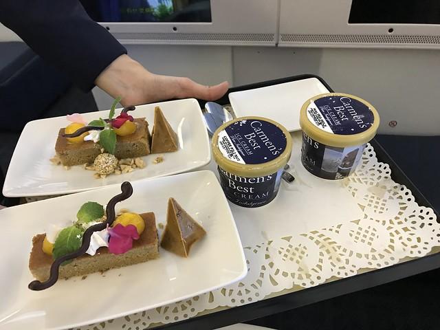 PAL in flght food,  desserts