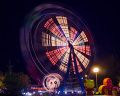 Ferris wheel at night.