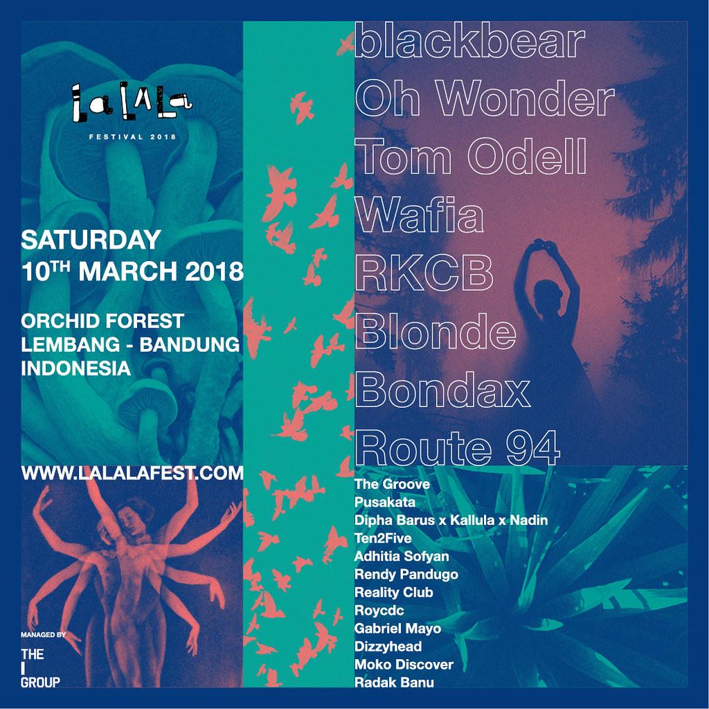 LaLaLa Festival 2018 Lineup