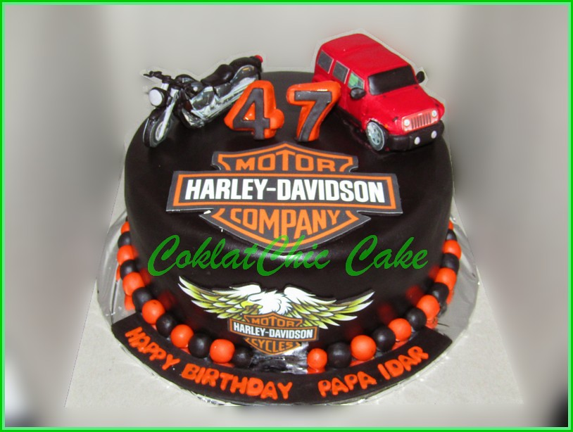 Cake Harley Davidson dan Jeep Wrangler Rubicon PAPA IDAR 20 cm