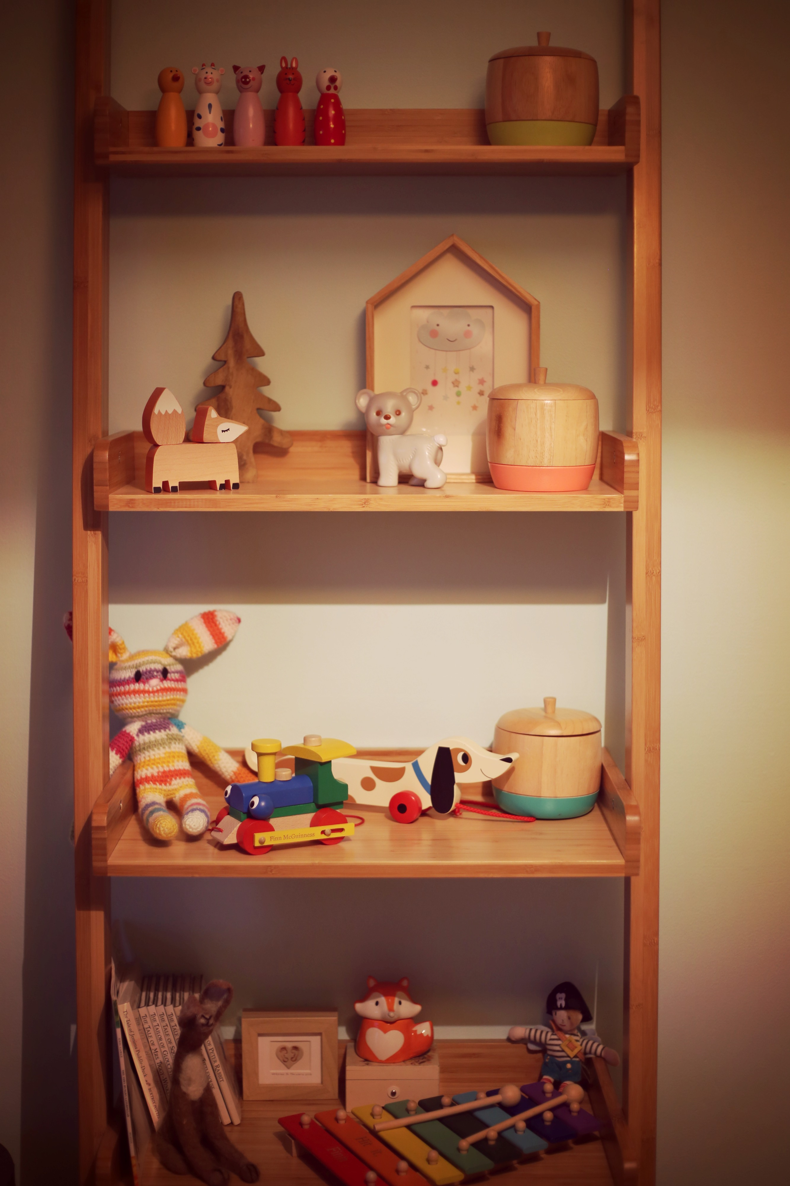 nursery room shelving